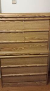 Queen Size bedroom set with mattress and box spring
