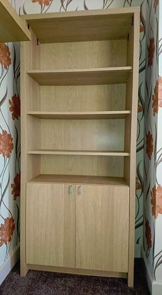 oak effect display cupboard, possibly Ikeain York, North YorkshireGumtree - Excellent condition, looks and feels sturdy. Is on the first floor and not sure if will dismantle. Approx 6 tall. Fairly confident it is Ikea. Collection only, York