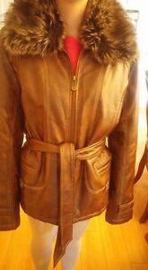 Manteau cuir femme XL