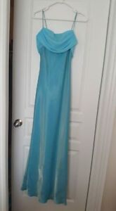 Long Evening Gown with Sheer Shawl