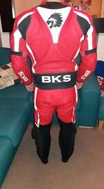 Bks 2 piece motorcycle leathers.