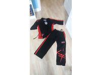 Kids black taekwondo outfit suit Size 120cm samarai sam design