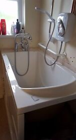 Easy access shower bath for disabled and/or elderly