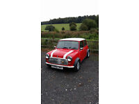 Classic Austin Mini Mayfair Red with White Roof 1986