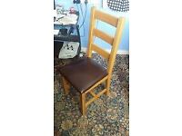 Solid Oak Table with 2 chairs and a 3 seater bench seat