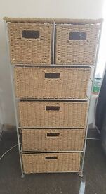 "Seagrass storage unit with drawers - over 3"" foot, very heavy quality cost £60"