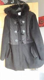 """Ladies """"M&S"""" Black Coat / Jacket - Size 18 (Would suit 16-20)"""