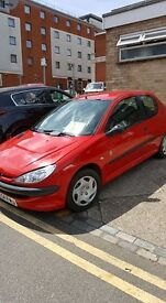 Peugeot 206 petrol 54 plate Peugeot 206 with 1.4 cc engine - current MOT low mileage good reliable