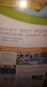 Above Ground easy set pool with accessories