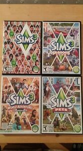 Sims 3 Games - $10 each or all for $35