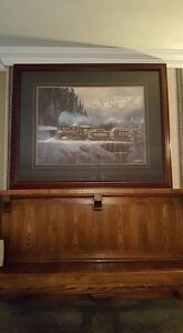 Railroad Steam Train Painting - Large
