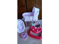 Baby bundle Mamas & papas moses basket..baby bouncer..baby walker