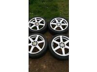 17inch multifit/stud alloy wheels x 4