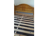 Double wooden bed frame and Silentnight 800 pocket spring matress