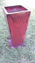 Tall, slim glazed terracotta slim garden pot New Lambton Heights Newcastle Area Preview