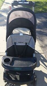 EUC sit and stand LX Baby trend stroller grey and black Kitchener / Waterloo Kitchener Area image 2