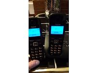 twin wireless rechargeable phones with answer machine