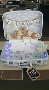 Vintage Suitcase Card Box for Wedding