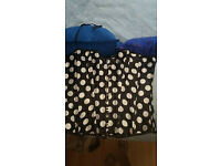 black and white polka dot bustier