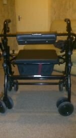 "uniscan grand glider plus 21"" four wheeled lightweight walker"