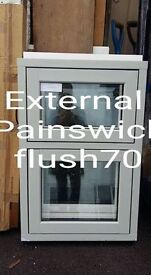 EX DISPLAY FLUSH 70 PAINSWICK ON WHITE WINDOWS, £80CASH EACH OR £140 FOR THE PAIR.BUYER COLLECT .