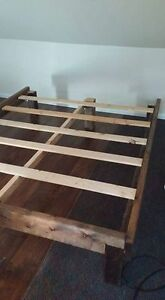 QUEEN SIZE CUSTOM MADE WOOD BED FRAME