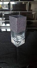 Glitter vase and tea light glasses £5 each