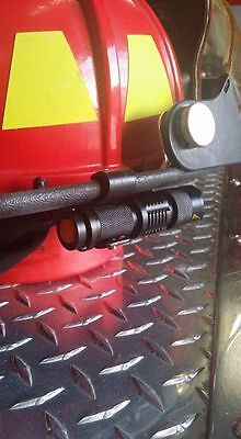 Firefighter/Firemen Helmet Light  (Black Bracket/ Black Flashlight) LED