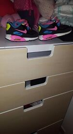 2 Toddler Girl Nike Trainers Size 5.5 and 1 River Island Tassel Boots Girls Size 5