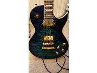 Blue & Gold Les Paul Style Electric Guitar