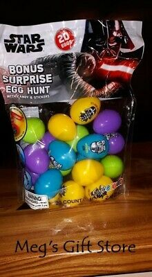 New 2019 Star Wars Candy/Sticker Filled Easter Eggs +MYSTERY GOLD EGG ~ 20 - Star Wars Eggs