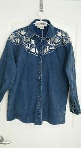 Ladies Blue Denim Fashion Shirt/Jacket -- Large --- Yorkton, SK