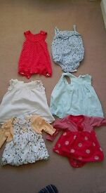 Selection of Play Suits And Dresses For 0-3 Months