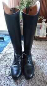 Black Brogini long dressage riding Boots