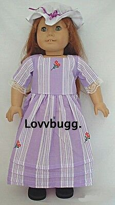 "Lovvbugg Colonial ""Meet"" Dress for 18"" American Girl Felicity Doll Clothes"