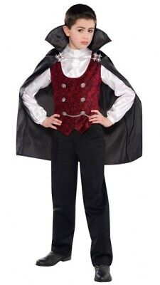 Dunkles Vampir Lord Kostüm für Kinder NEU - - Vampir Lord Kinder Kostüme