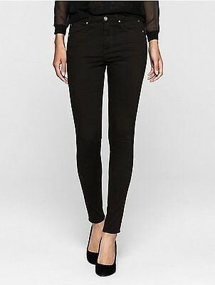 Calvin Klein Ultimate Skinny Womens Dark Rinse 42O7188 Jeans Stretch 5-Pocket Calvin Klein Womens Rinse