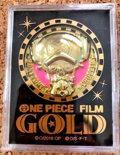 One Piece Film Gold 2016 Movie Collectible Limited Coin Medal F/S From Japan