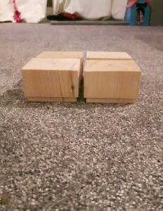 Wooden legs home furniture diy ebay a set 4 wooden sofa feet 50mm high furniture pine square legs chair settee watchthetrailerfo