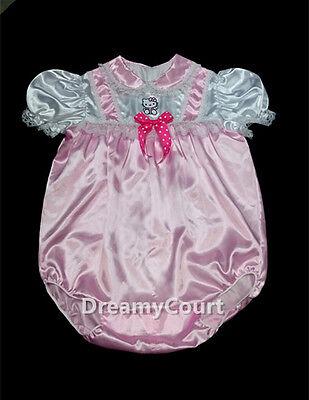 ADULT SISSY BABY GIRL BABY PINK ROMPER NIGHT SLEEPER 03