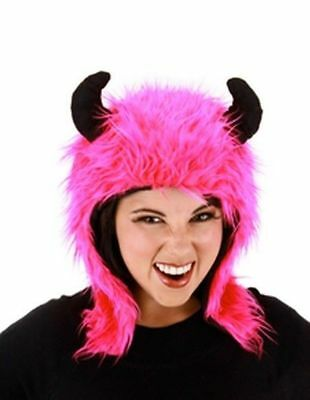 Magenta MINOTAUR Pink Costume Bull Hoodie Hat w/ Horns Greek Legend