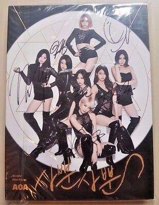 AOA signed / autographed 2th mini album LIKE A CAT / no photo card mwave