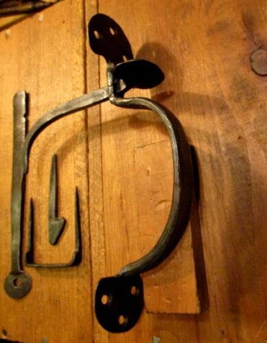 Vintage Forged Iron Bean Thumb Latch Door Hardware