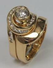 18ct Yellow Gold Diamond Engagement-Wedding Ring Combo + Men's Como Sutherland Area Preview