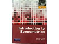 Introduction to Econometrics (J.H.Stock, M.M.Watson)