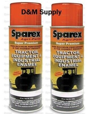 2 Cans Bobcat Skidsteer Loader Skidder Orange Super Premium Spray Paint