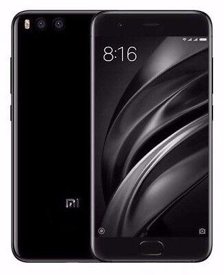 "Xiaomi Mi 6 64GB Black (FACTORY UNLOCKED) 5.15"" 6GB Ram Dual Sim Global model"