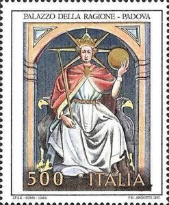 ITALIA-ITALY-1989-Palazzo-della-Ragione-Padova-Art-Painting-Stamp-MNH