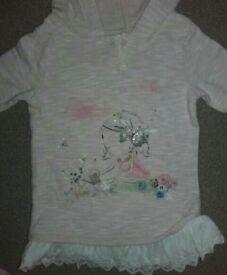 Next pink hooded sweatshirt 12 - 18 months