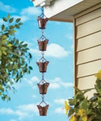 Decorative Iron - Decorative Iron Rain Chains Porch Patio Deck Home Decor Butterfly Bird